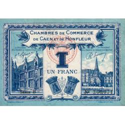 Caen / Honfleur - Pirot 34-18-B - 1 franc - 1920 - Etat : SUP