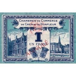 Caen / Honfleur - Pirot 34-19 - 1 franc - 1920 - Annulé - Etat : SUP