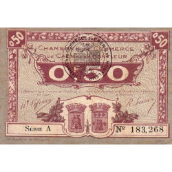 Caen / Honfleur - Pirot 34-20 - 50 centimes - Série A - 1920 - Etat : TB+