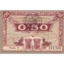 Caen / Honfleur - Pirot 34-20-A - 50 centimes - 1920 - Etat : TB+