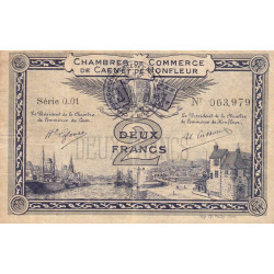 Caen / Honfleur - Pirot 34-10-001 - 2 francs - 1915 - Etat : TB+