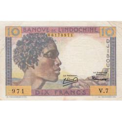 Djibouti - Pick 19 - 10 francs - 1946 - Etat : pr.TTB