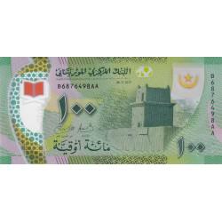 Mauritanie - Pick 23 - 100 nouveaux ouguiya - Polymère - 2017 - Etat : NEUF