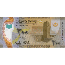 Mauritanie - Pick 24 - 200 nouveaux ouguiya - Polymère - 28/11/2017 - Etat : NEUF