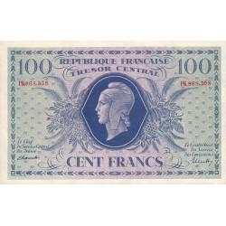 VF 06-01c - 100 francs - Trésor central - 1943 - Etat : SUP+ à SPL