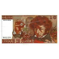 F 63bis-01 - 06/12/1973 - 10 francs - Berlioz - Série Q.12 - Variété sans signature - Etat : SUP+