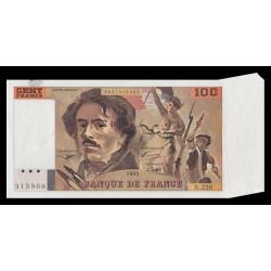 F 69bis-08 - 1993 - 100 francs - Delacroix - Appendice de papier - Etat : NEUF