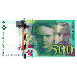 F 76f3-01 - 1994 - 500 francs - Curie - Série A - Sans symbole radium - Etat : NEUF