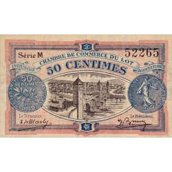 Cahors (Lot) - Pirot 35-25 - 50 centimes - Série M - 29/11/1920 - Etat : TB