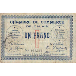 Calais - Pirot 36-3 - 1 franc - 1914 - Etat : TB