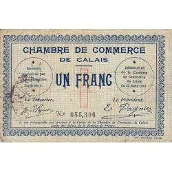 Calais - Pirot 36-3 - 1 franc - Sans série - 22/08/1914 - Etat : TB