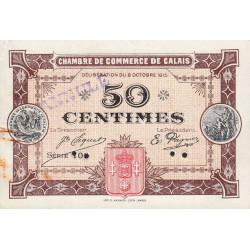 Calais - Pirot 36-10 - 50 centimes - Annulé - 1915 - Etat : SUP