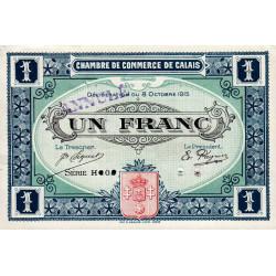 Calais - Pirot non répertorié - 1 franc- Annulé - 1915 - Etat : SUP+ à SPL