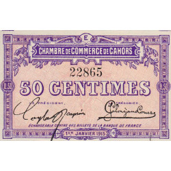 Cahors (Lot) - Pirot 35-5 - 50 centimes - Série E - 01/01/1915 - Etat : SUP