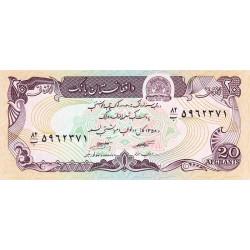 Afghanistan - Pick 56a_2 - 20 afghanis - 1984 - Etat : NEUF