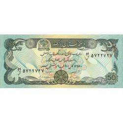 Afghanistan - Pick 57a_2 - 50 afghanis - 1984 - Etat : NEUF
