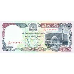 Afghanistan - Pick 62 - 5'000 afghanis - 1993 - Etat : NEUF