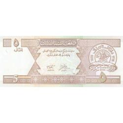 Afghanistan - Pick 66a - 5 afghanis - 2002 - Etat : NEUF