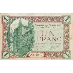 Brive - Pirot 33-2 - Série C - 1 franc - Sans date - Etat : TTB
