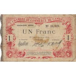 Cambrai - Pirot 37-1 - 1 franc - 1914 - Etat : TB