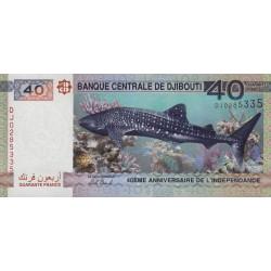 Djibouti - Pick 46 - 40 francs - 2017 - Commémoratif - Etat : NEUF