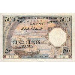 Djibouti - Pick 31 - 500 francs - 1973 - Etat : TTB