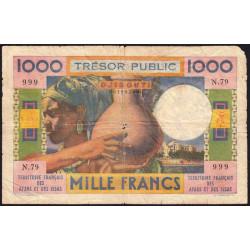 Djibouti - Pick 32 - 1'000 francs - 1974 - Etat : B-