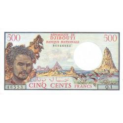 Djibouti - Pick 36a - 500 francs - 1971 - Etat : NEUF