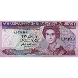 Est Caraïbes - Anguilla - Pick 24u - 20 dollars - 1988 - Etat : SPL