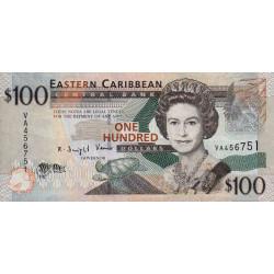 Etats de l'Est des Caraïbes - Pick 51 - 100 dollars - 2008 - Etat : TB+