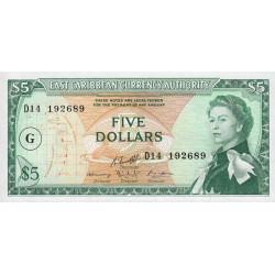 Caraïbes Est - Grenade - Pick 14k - 5 dollars - 1983 - Etat : NEUF