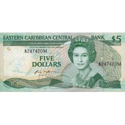 Caraïbes Est - Montserrat - Pick 18m - 5 dollars - 1987 - Etat : NEUF
