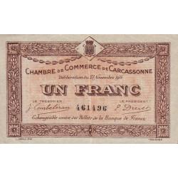 Carcassonne - Pirot 38-6 - 1 franc - 1914 - Etat : TTB