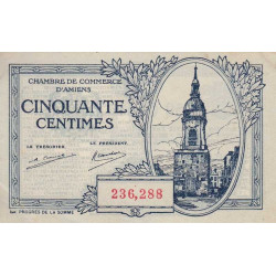 Amiens - Pirot 7-55 - 50 centimes - 1922 - Etat : SPL