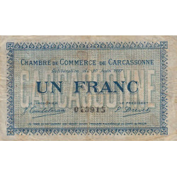 Carcassonne - Pirot 38-13 - 1 franc - 1917 - Etat : B+
