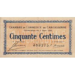 Carcassonne - Pirot 38-15 - 50 centimes - 1920 - Etat : TTB