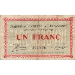 Carcassonne - Pirot 38-17 - 1 franc - 1920 - Etat : B+
