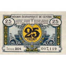Région économique du Centre - Pirot 40-1 - 25 centimes - Sans date - Etat : SUP+
