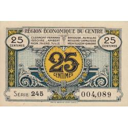Région économique du Centre - Pirot 40-1 - 25 centimes - Série 245 - Sans date - Etat : SUP