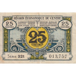 Région économique du Centre - Pirot 40-1 - 25 centimes - Sans date - Etat : TTB
