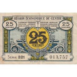 Région économique du Centre - Pirot 40-1 - 25 centimes - Série 321 - Sans date - Etat : TTB