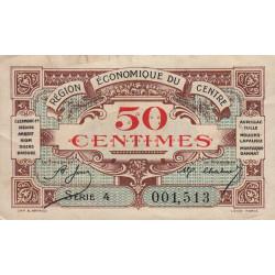 Région économique du Centre - Pirot 40-5 - 50 centimes - Sans date - Etat : TTB