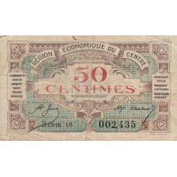 Région économique du Centre - Pirot 40-5 - 50 centimes - Sans date - Etat : B-