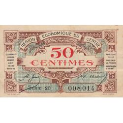 Région économique du Centre - Pirot 40-5 - 50 centimes - Sans date - Etat : SUP-