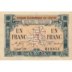 Région économique du Centre - Pirot 40-7 - 1 franc - Sans date - Etat : SUP