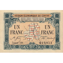 Région économique du Centre - Pirot 40-7 - 1 franc - Série 131 - Sans date - Etat : SUP