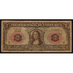 Costa Rica - Pick 167 - 2 colones - 19/12/1934 - Etat : B-