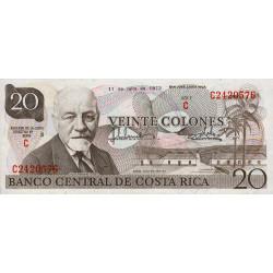 Costa Rica - Pick 238b - 20 colones - 11/07/1973 - Etat : NEUF