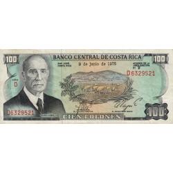 Costa Rica - Pick 240 - 100 colones - 09/06/1975 - Etat : TTB