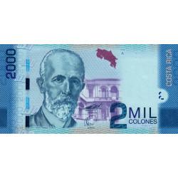 Costa Rica - Pick 275 - 2'000 colones - 02/09/2009 - Etat : NEUF